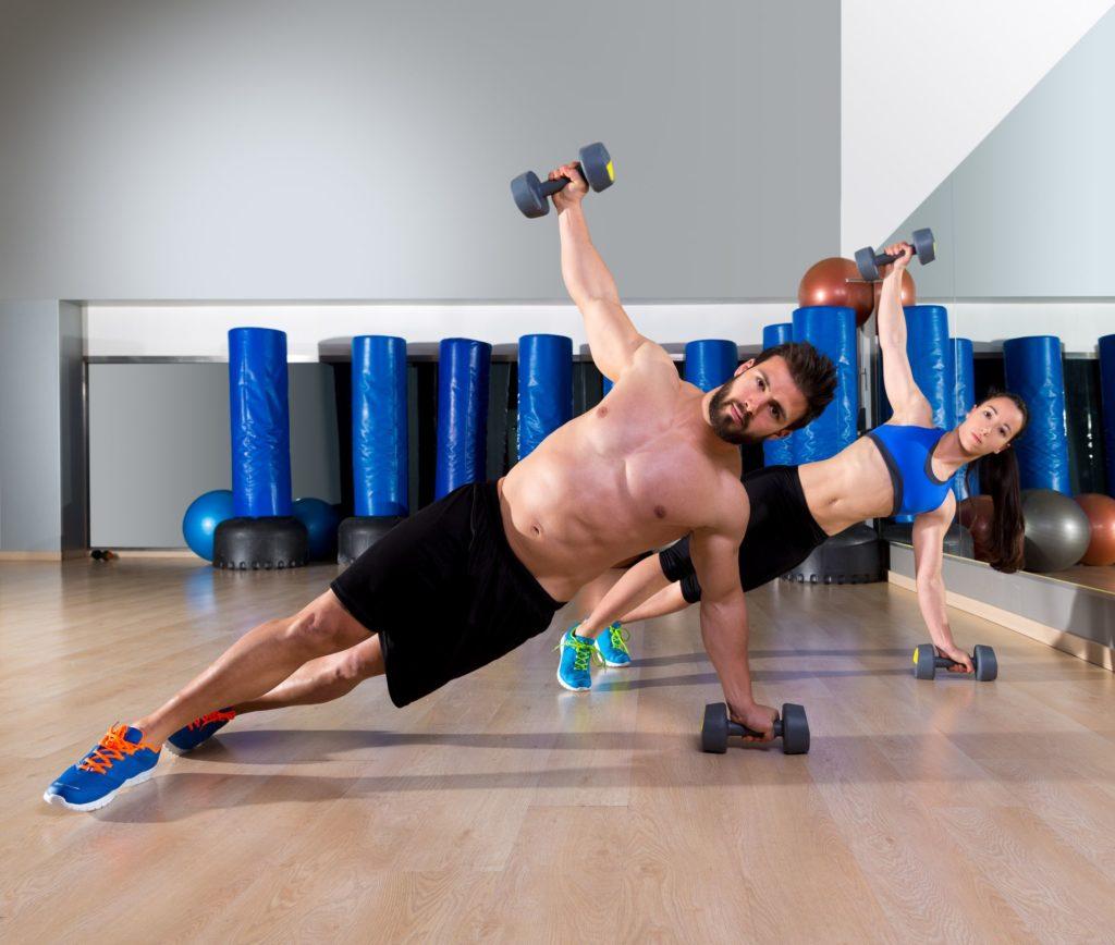 Side-Plank mit Gewichten