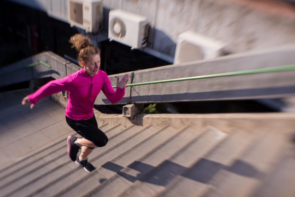 Treppenläufe sind ein hocheffektives Training