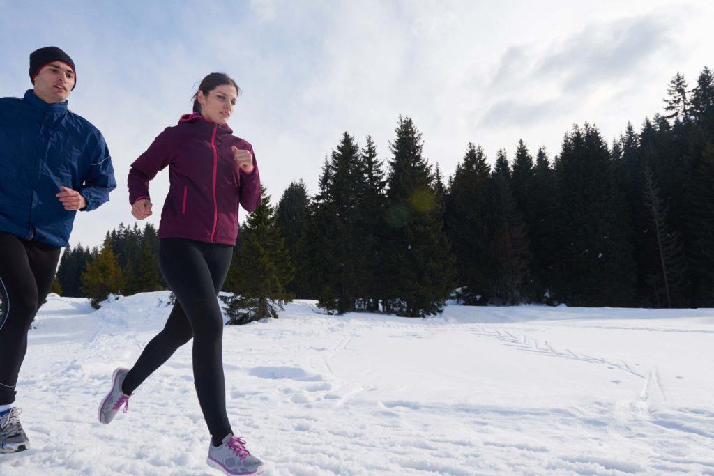 Das Zwiebelprinzip ist ideal bei Sport bei Kälte