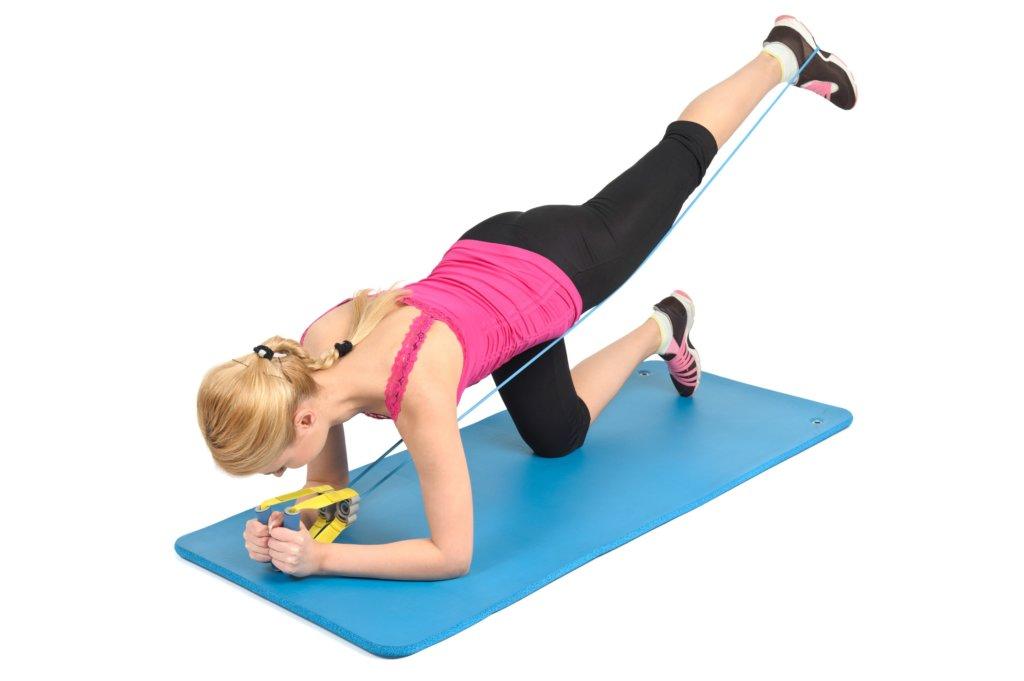 Mit dem Fitnessband kannst Du viele Muskeln trainieren