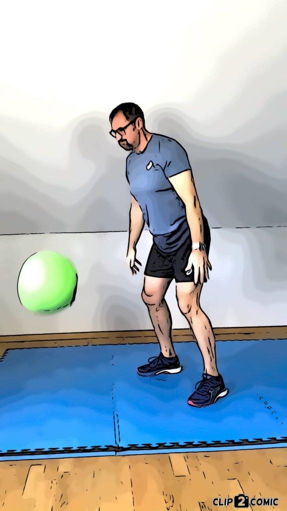 Medizinball-Übungen mit unterschiedlich schweren Bällen