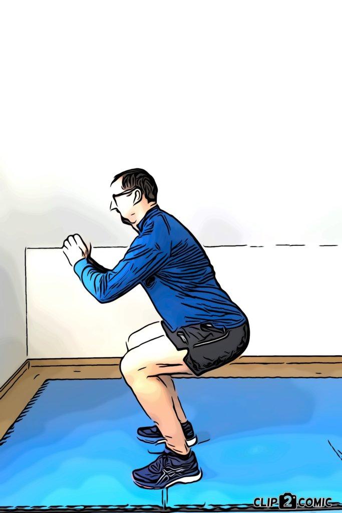 Muskelaufbautraining mit Kniebeugen
