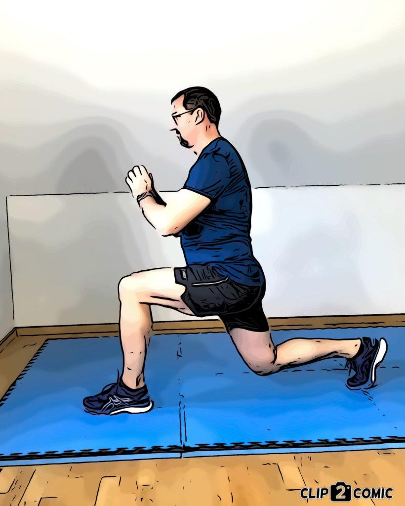 Muskelaufbautraining mit Ausfallschritten