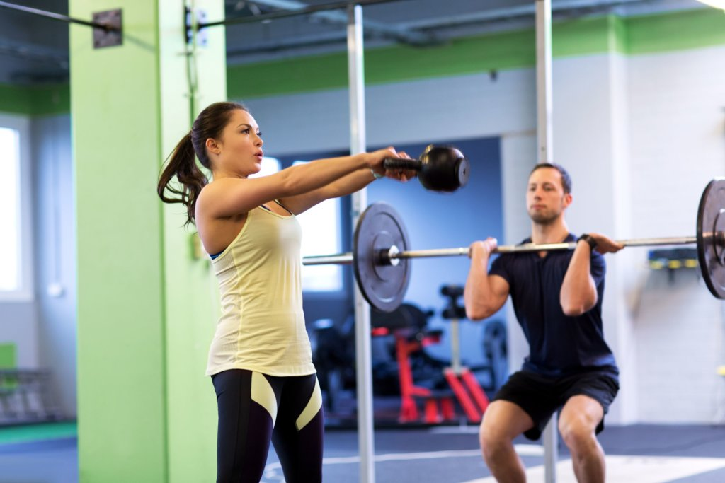 Funktionelles Training mit Kettlebell